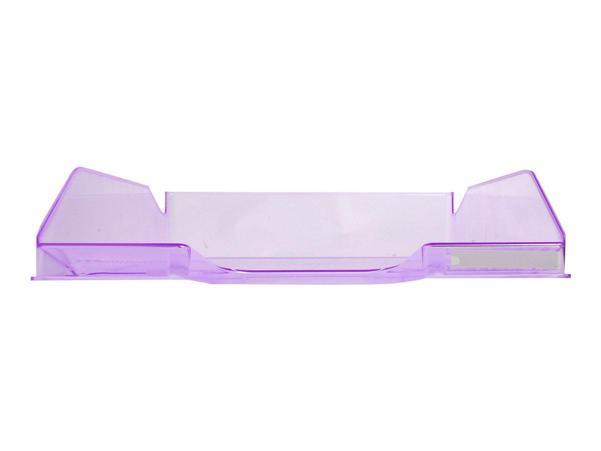 Exacompta COMBO Glossy - Corbeille à courrier violet translucide