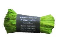 Maildor - Pelote de raphia naturel - ruban d'emballage 50 g - vert anis