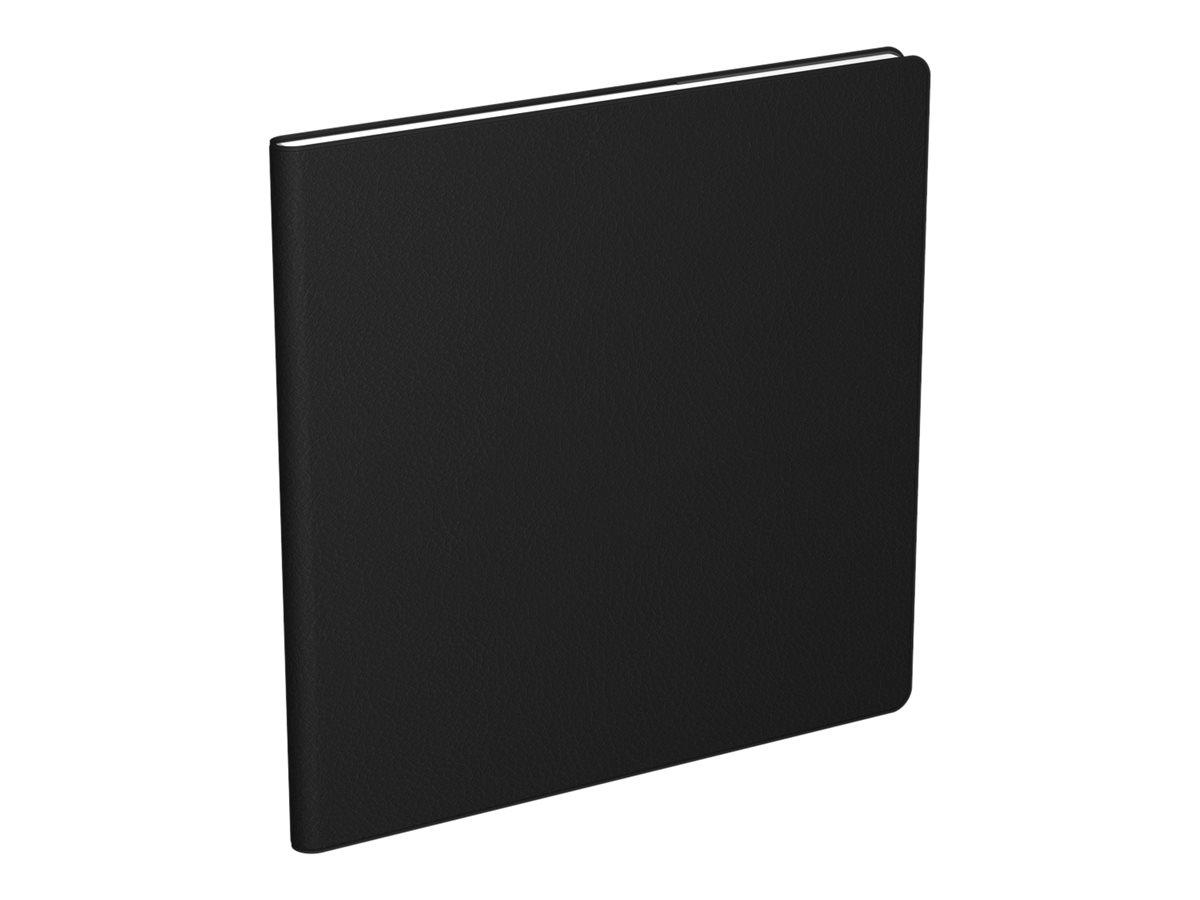 Lecas Economique - Agenda 1 semaine sur 2 pages - 16 x 16 cm - noir