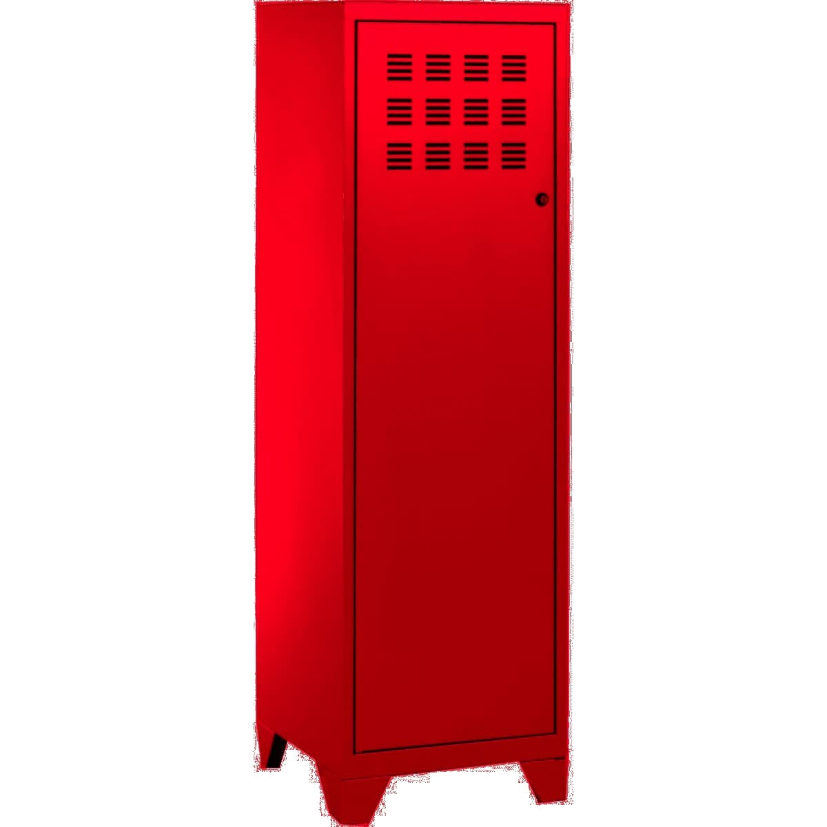 Casier de bureau avec pieds - 133 x 40 x 40 cm - rouge