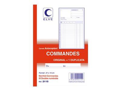 ELVE - Manifold Carnet de commandes - 50 dupli - 21 x 14 cm