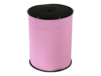 Maildor - Bolduc mat - ruban d'emballage 10 mm x 250 m - rose