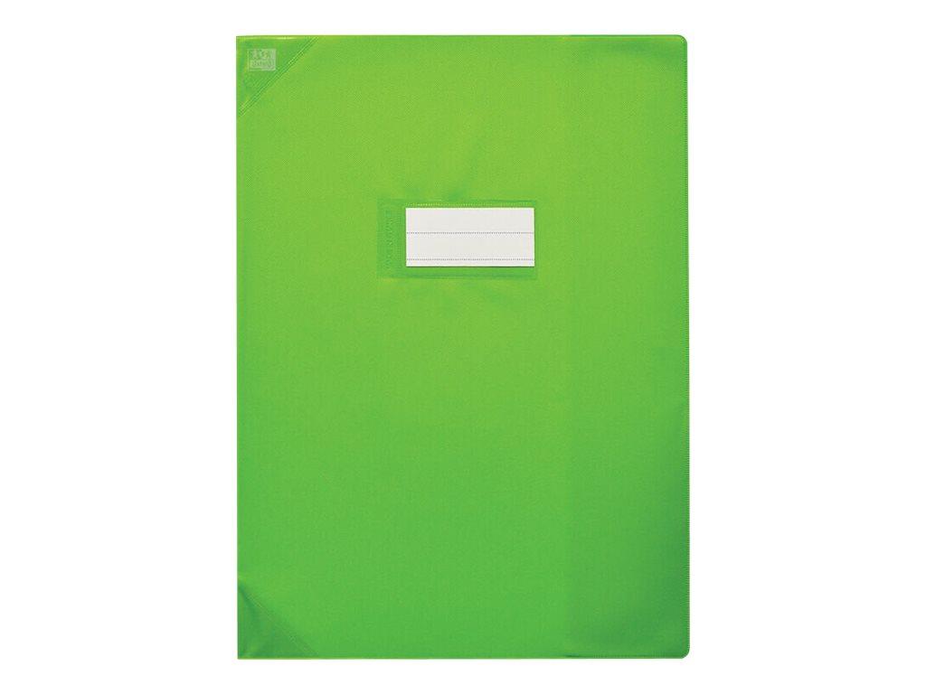 Oxford Strong Line - Protège cahier sans rabat - 24 x 32 cm - vert opaque