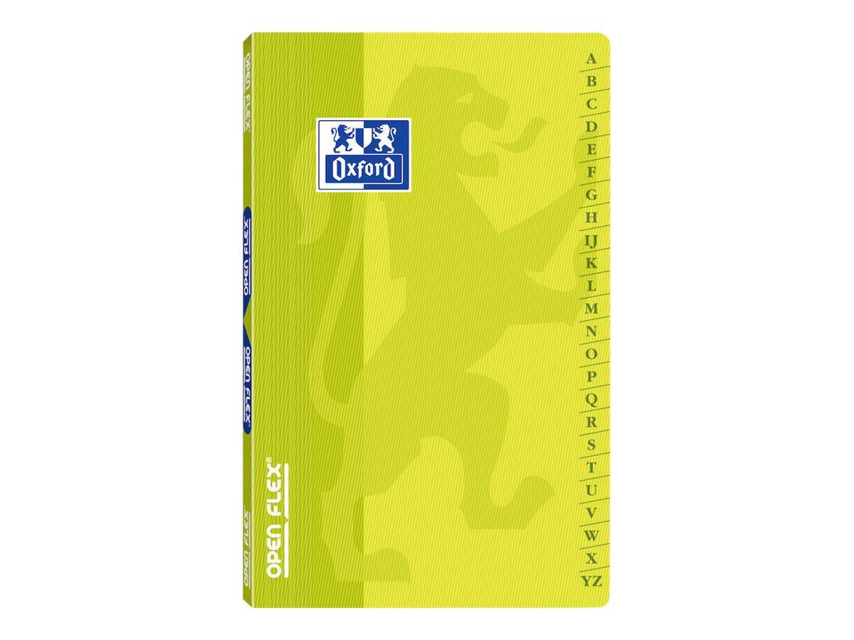 Oxford OpenFlex - Répertoire 9 x 14 cm - 96 pages - petits carreaux (5x5 mm) - disponible dans différentes couleurs