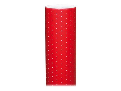 Clairefontaine Alliance - Papier cadeau - 70 cm x 50 m - 60 g/m² - pois fond rouge