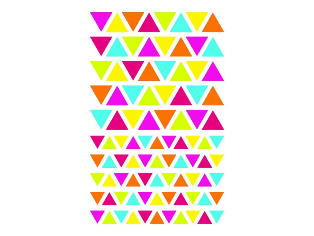 Maildor - 4 feuilles gommettes triangle - coloris assortis