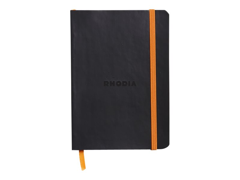 Rhodia Rhodiarama - Carnet souple A6 - 144 pages - ligné - noir