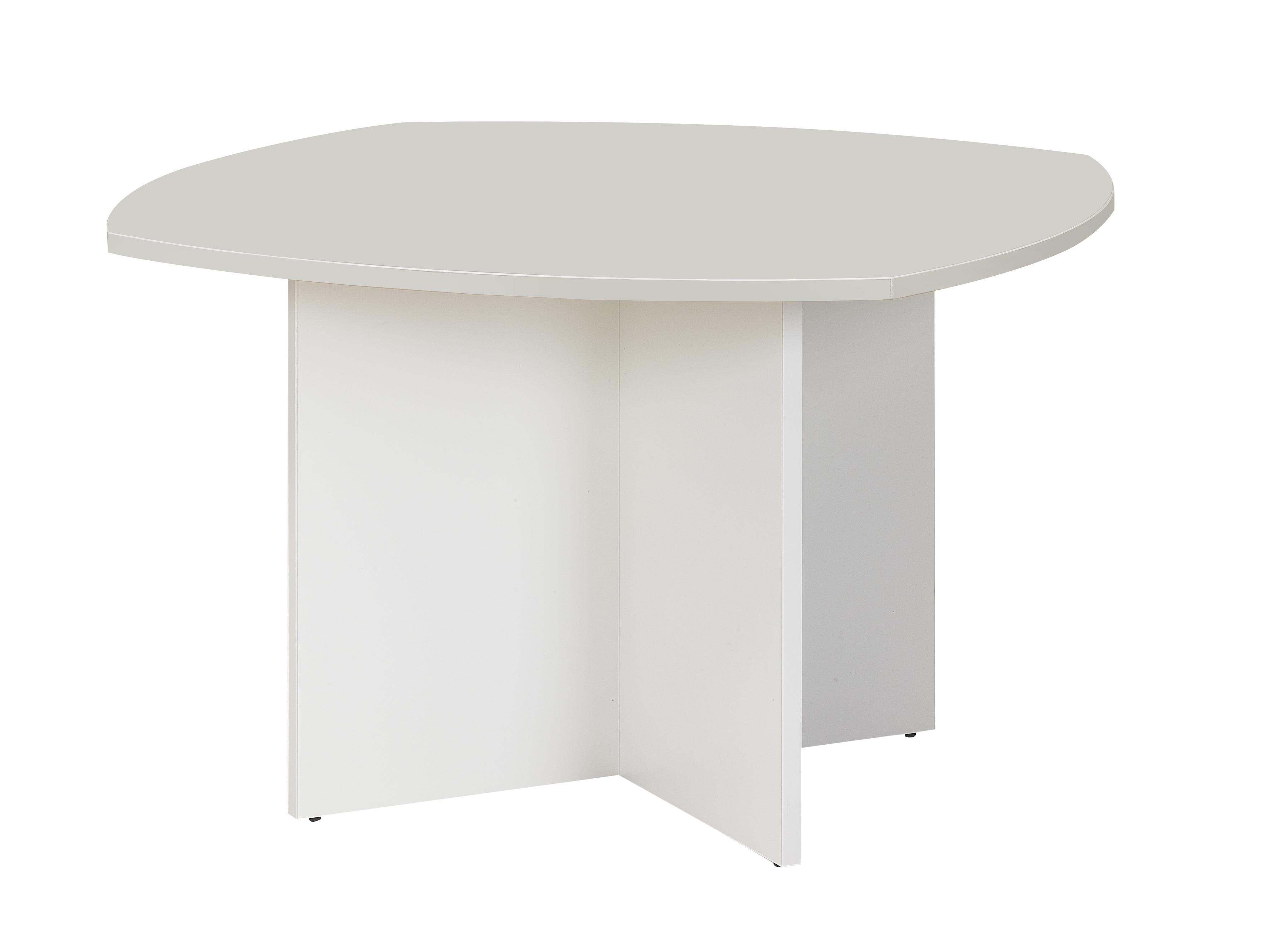 Table de réunion SUNDAY - Cotés arrondis - L115 x H74 x P115 - Gris