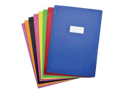 Oxford Strong Line - Protège cahier sans rabat - 24 x 32 cm - disponible dans différentes couleurs opaques
