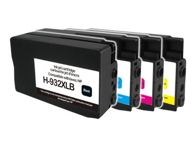 HP 932XL/933XL - remanufacturé UPrint H.932/933XL - Pack de 4 - noir, cyan, magenta, jaune - cartouche d'encre