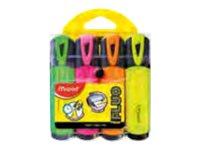 Maped Fluo Peps Classic - Pack de 4 surligneurs - couleurs assorties
