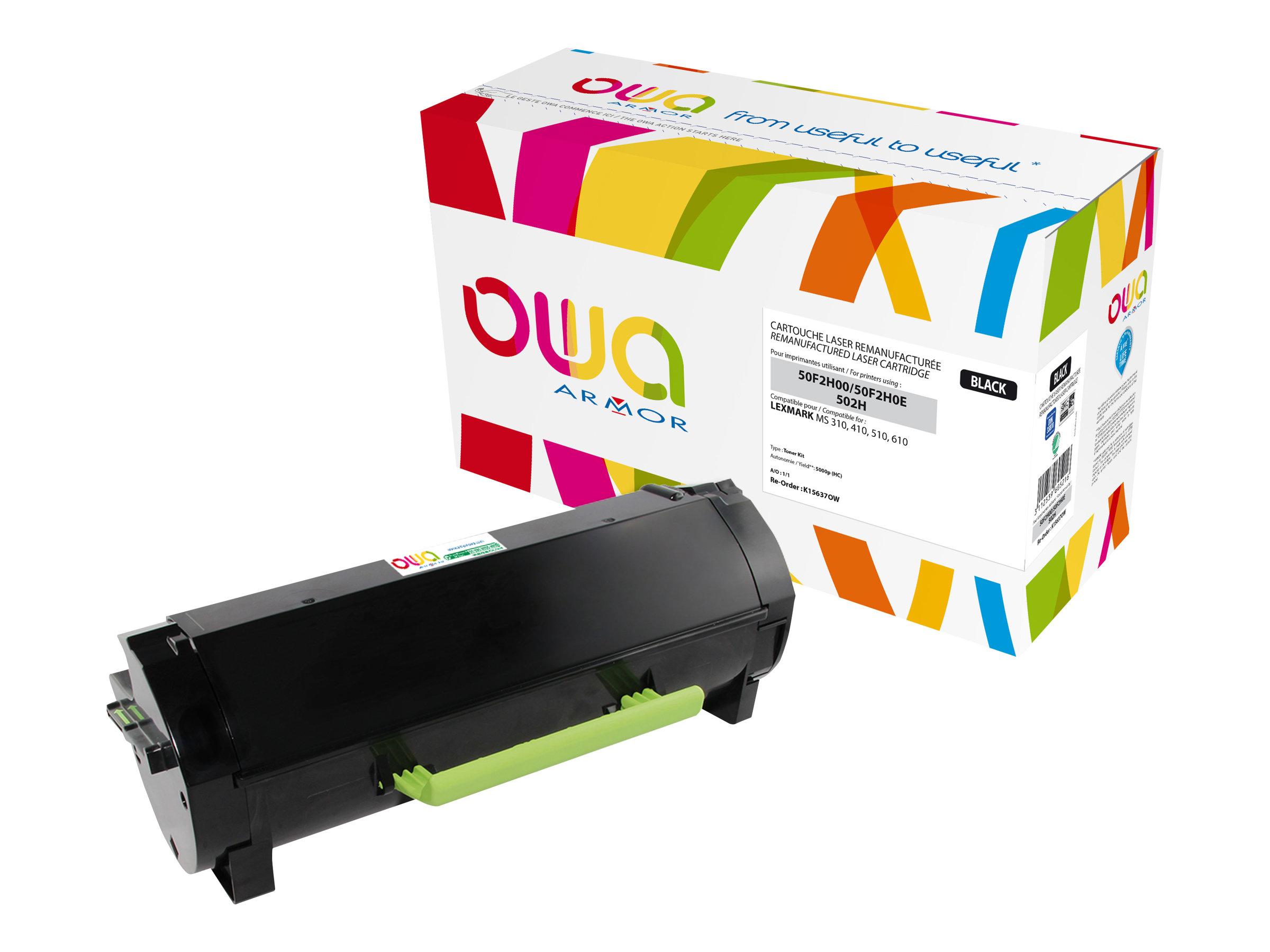 Owa K15637OW cartouche équivalente Lexmark 502H - noir