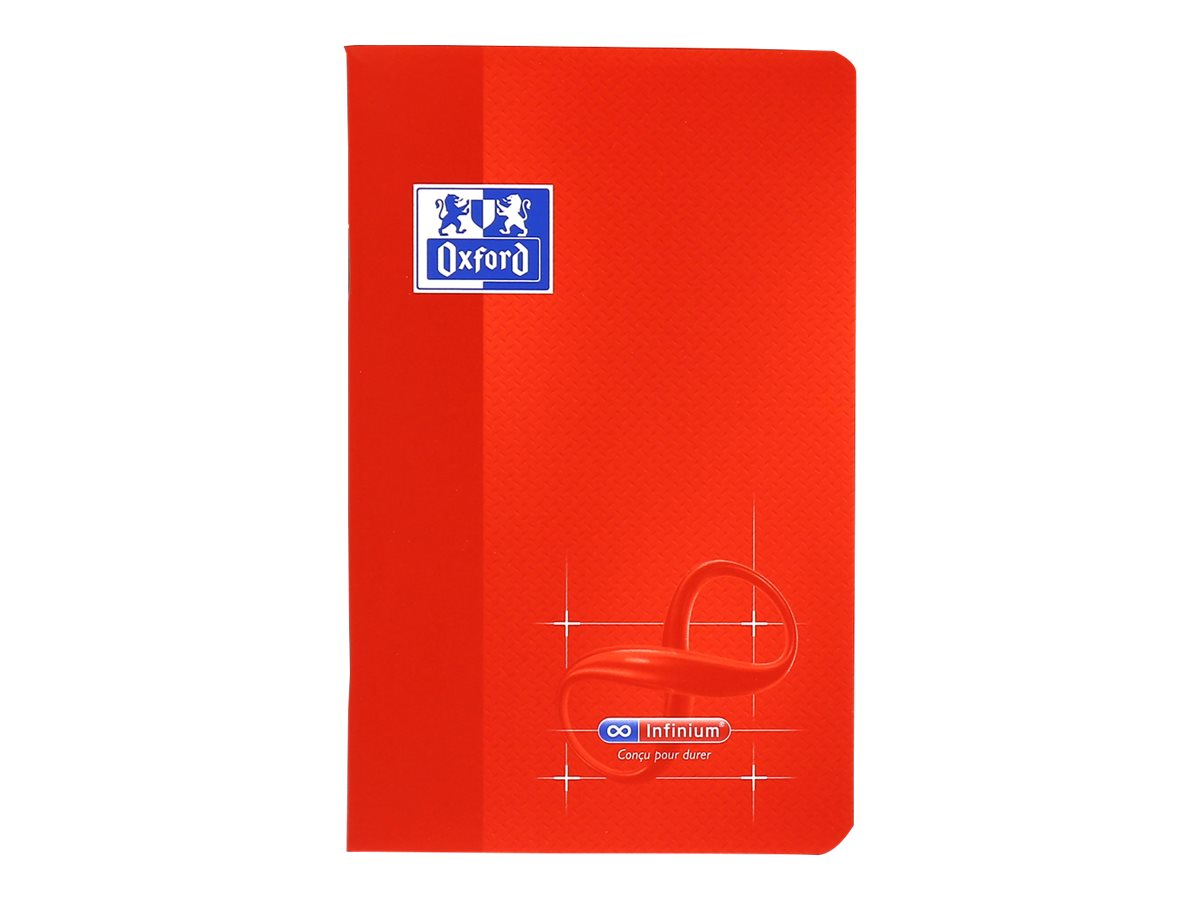 Oxford Infinium - Carnet 9 x 14 cm - 48 pages - petits carreaux (5x5 mm) - disponible dans différentes couleurs