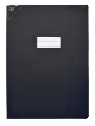 Oxford Strong Line - Protège cahier sans rabat - 24 x 32 cm - noir opaque