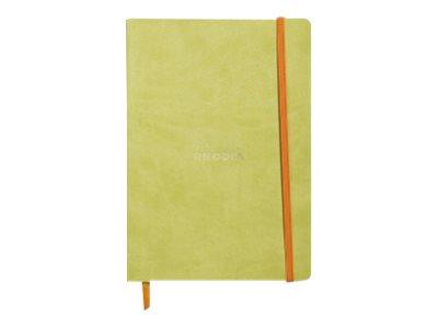 Rhodia Rhodiarama - Carnet souple A5 - 160 pages - pointillés - vert anis