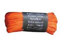 Maildor - Pelote de raphia naturel - ruban d'emballage 50 g - orange