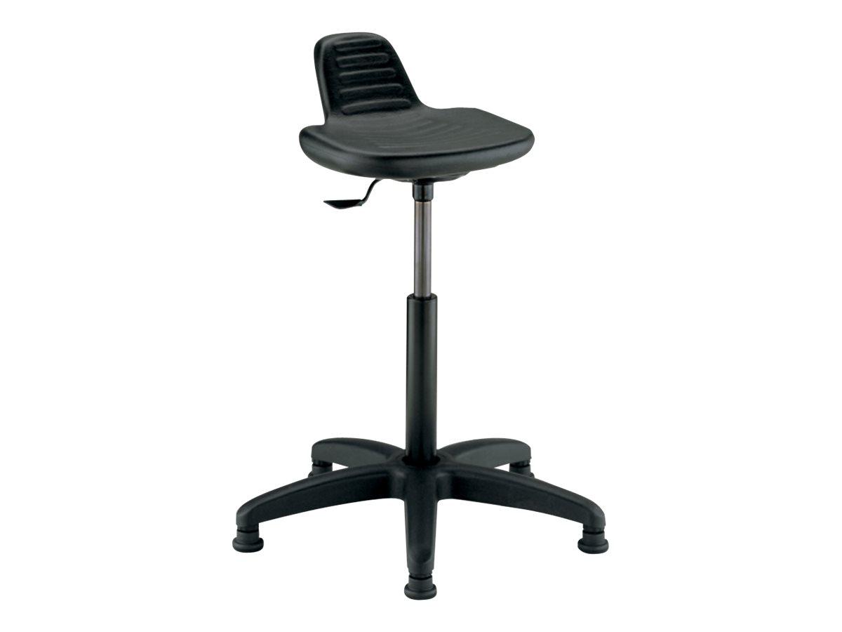Siège technique SPRING - tabouret assis-debout - hauteur réglable jusqu'à 80 cm - Noir