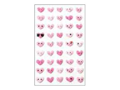 Maildor - 1 feuille gommettes Emoji cœur