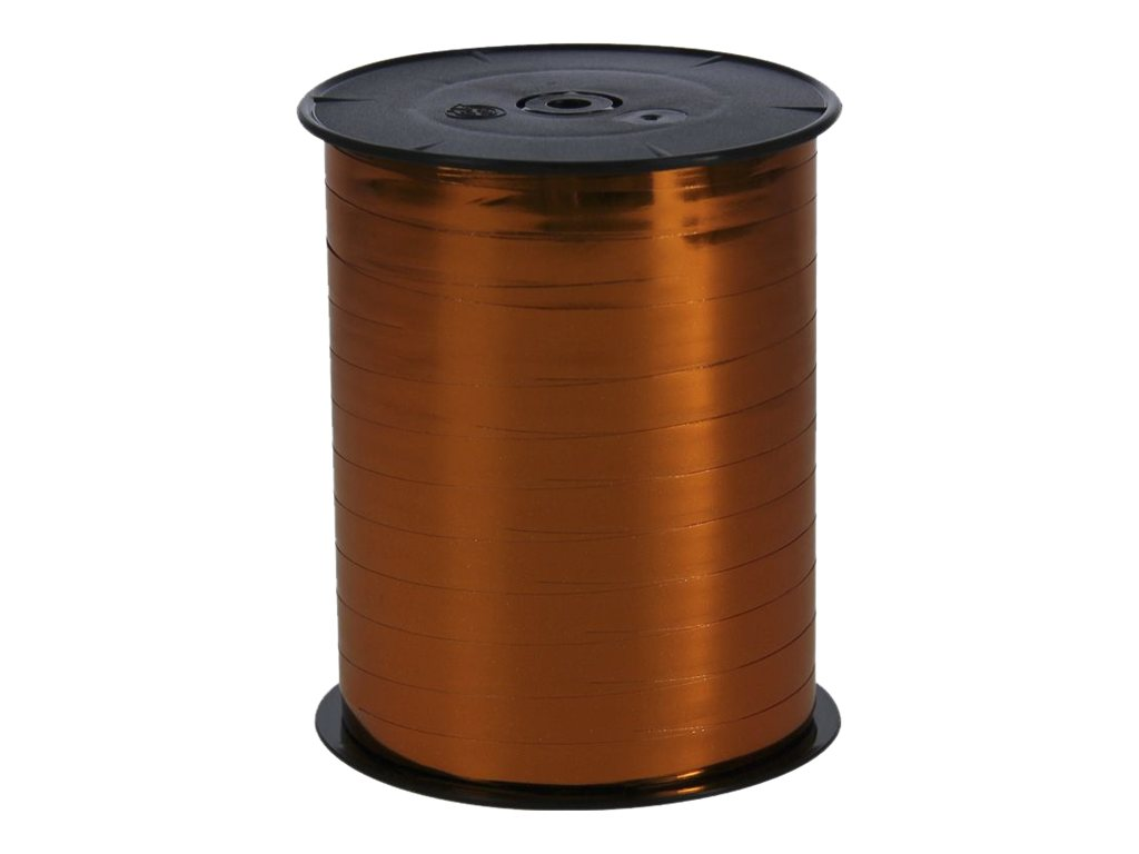 Maildor - Bolduc métallisé - ruban d'emballage 7 mm x 250 m - orange