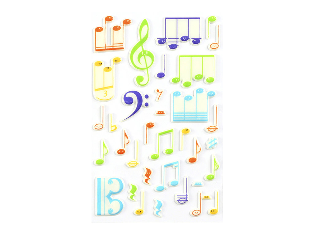 Maildor - 1 feuille gommettes notes de musique