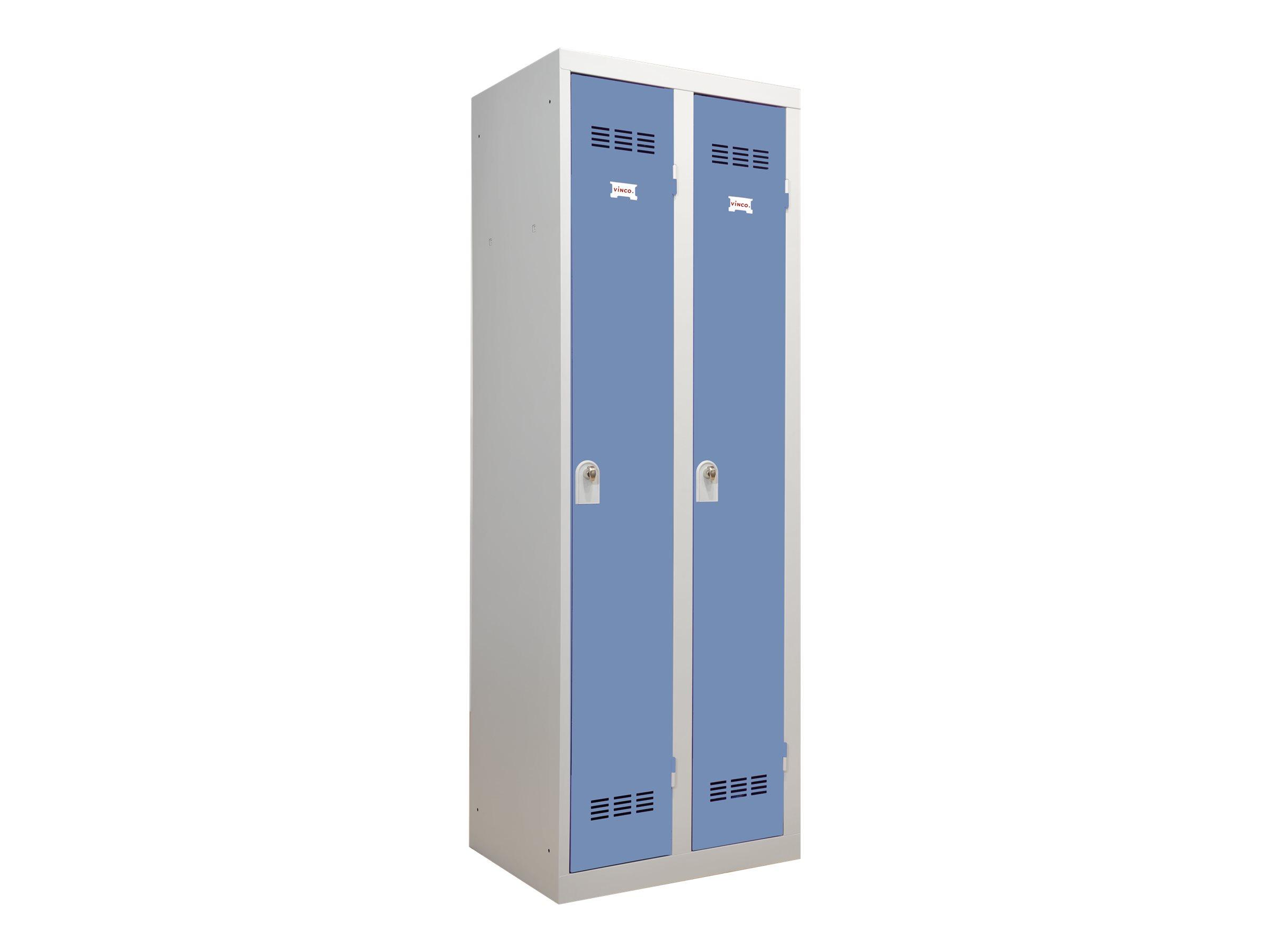 Vestiaire Industrie Propre - 2 portes - 180 x 60 x 50 cm - gris/beu