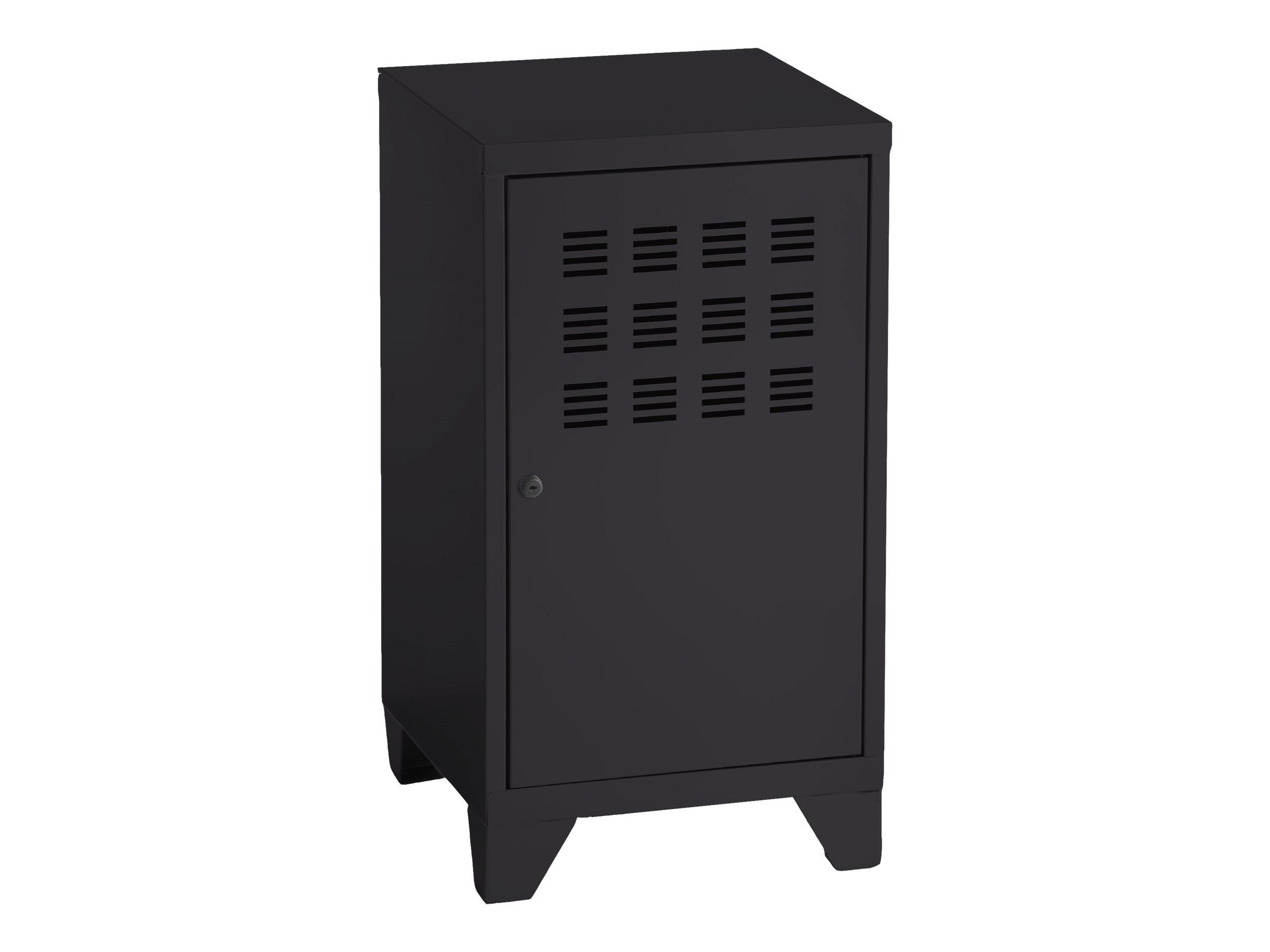 Casier de bureau avec pieds - 74 x 40 x 40 cm - noir