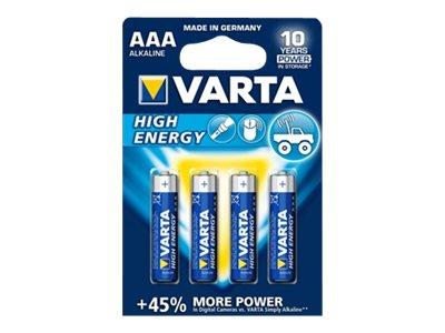 VARTA Longlife Power - 4 piles alcalines - AAA LR03
