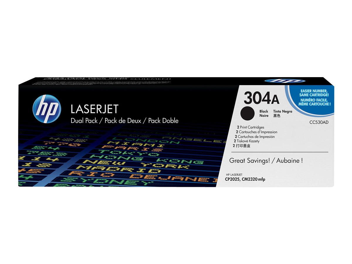 HP 304A - Pack de 2 - noir - cartouche laser d'origine