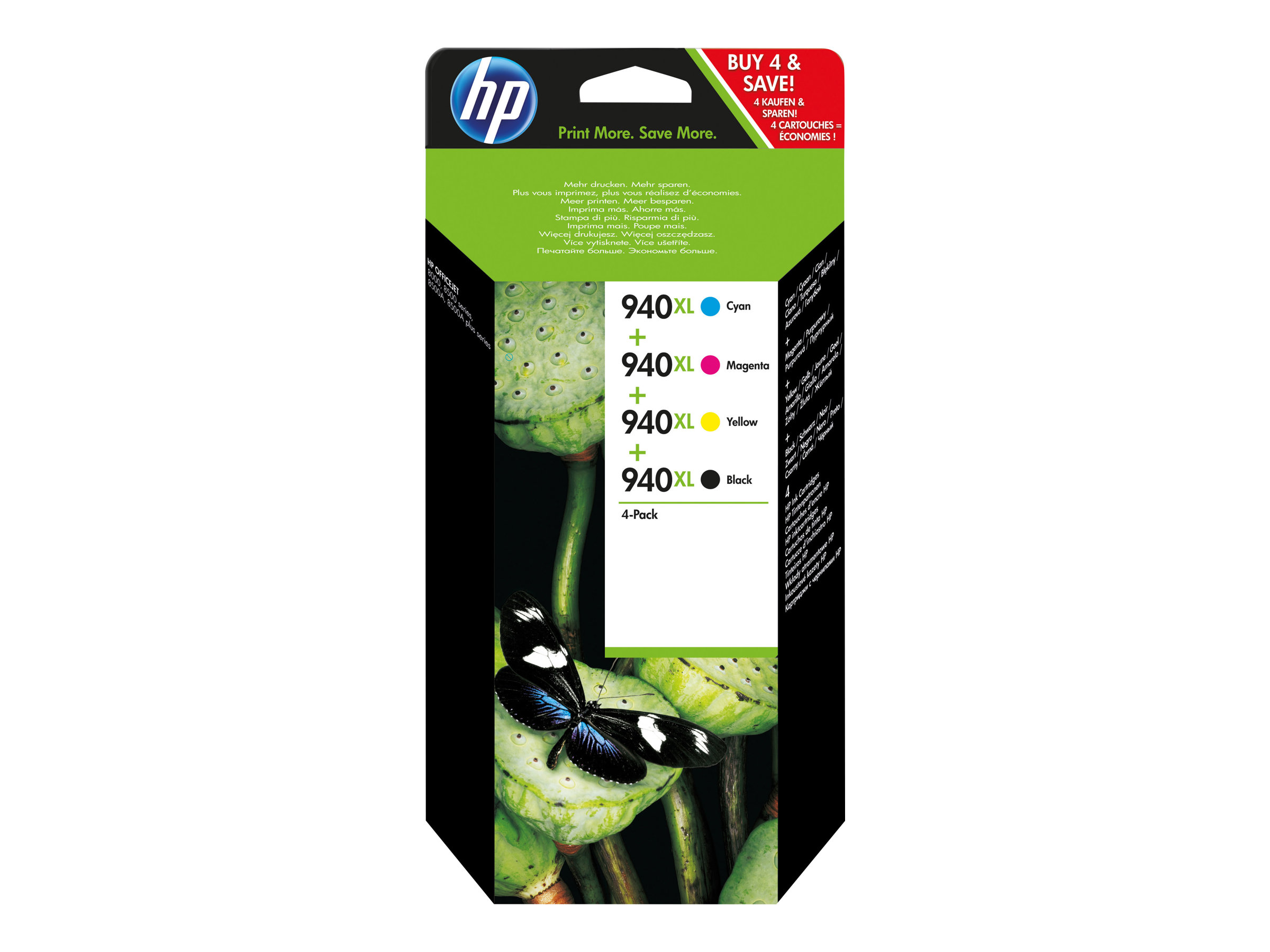 HP 940XL - Pack de 4 - noir, cyan, magenta, jaune - cartouche d'encre originale