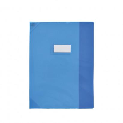 Oxford Strong Line - Protège cahier sans rabat - 24 x 32 cm - bleu translucide