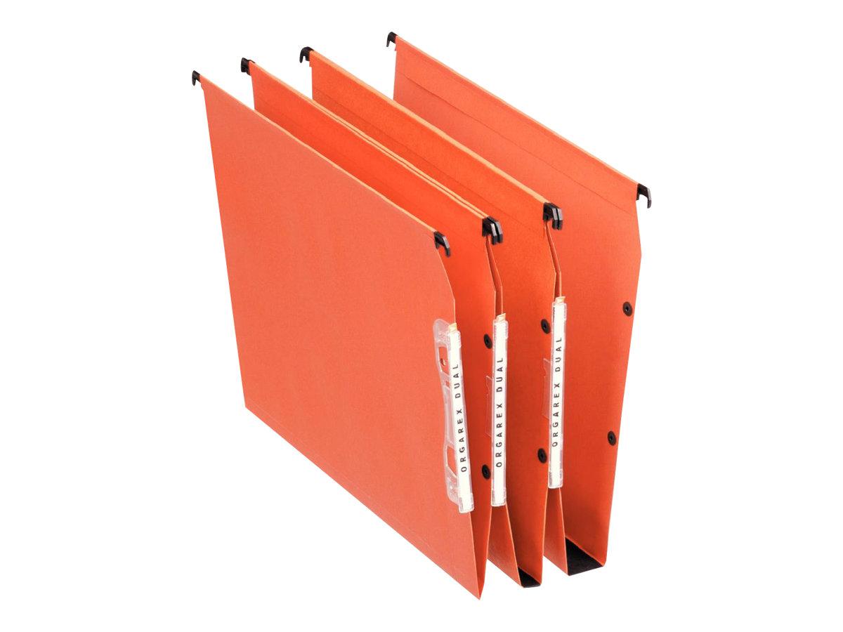Esselte Dual - 25 Dossiers suspendus pour armoires - fond 50 mm