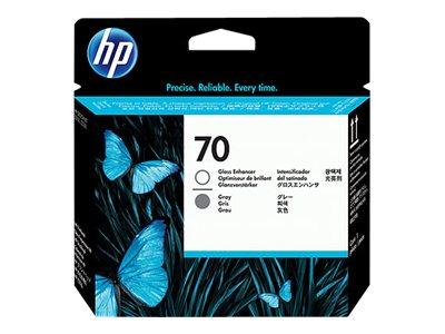 HP 70 - Pack de 2 - gris et activateur de brillance - originale- tête d'impression
