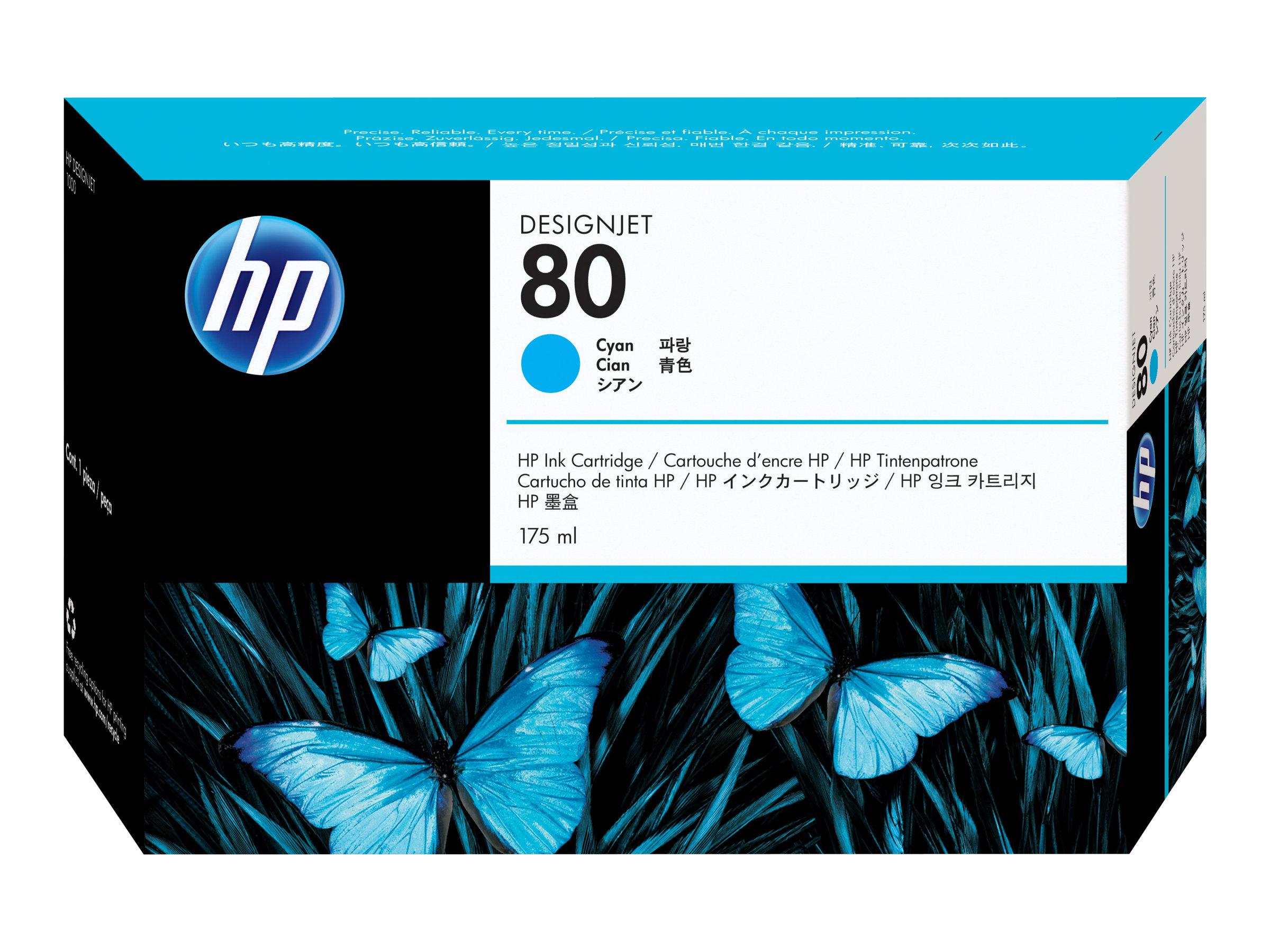 HP 80 - cyan - cartouche d'encre originale