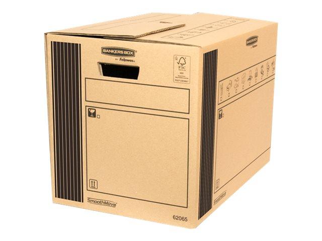 Bankers Box SmoothMove - 10 cartons déménagement 65L - Fellowes