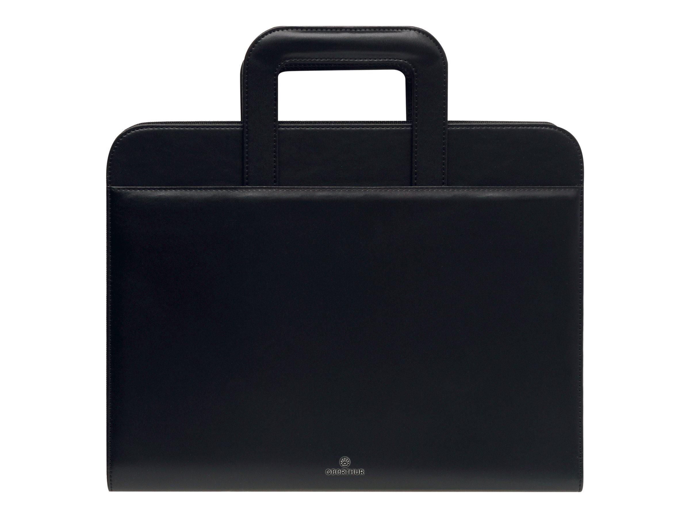 Oberthur Wilson - Conférencier A4 zippé, à poignées - noir