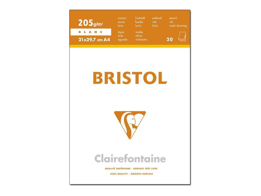 Clairefontaine - Bloc dessin - 20 feuilles - A4 - 205 gr - blanc