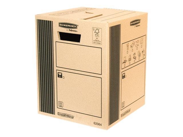 Bankers Box SmoothMove - 10 cartons déménagement 33L - Fellowes