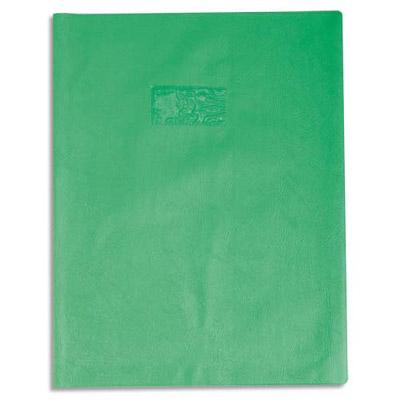 Calligraphe - Protège cahier sans rabat - A4 (21x29,7 cm) - grain cuir - vert