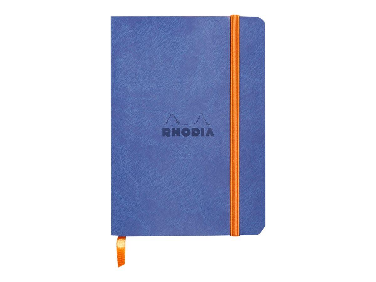 Rhodia Rhodiarama - Carnet souple A6 - 144 pages - ligné - bleu saphir