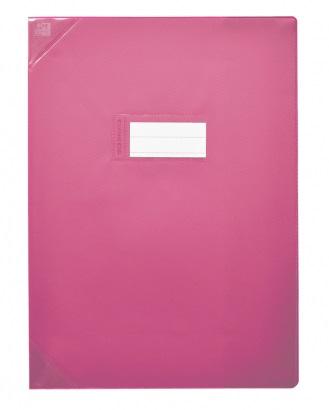 Oxford Strong Line - Protège cahier sans rabat - 24 x 32 cm - rose opaque