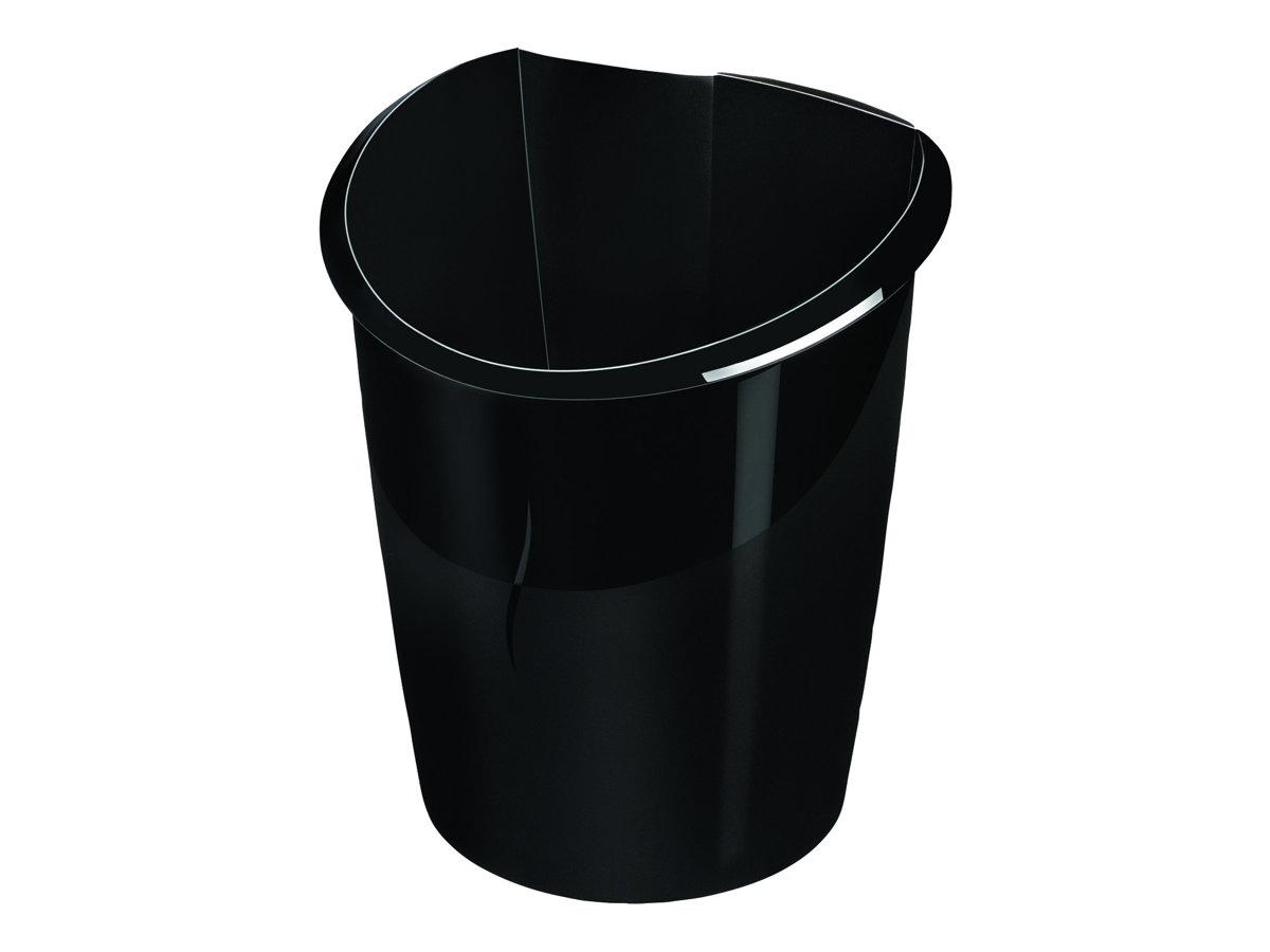 CEP Ellypse - Corbeille à papier 15L - noir