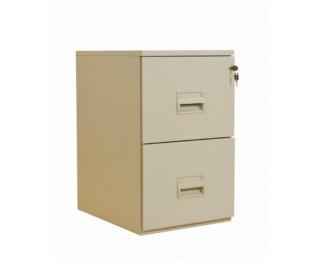 Classeur 2 tiroirs pour dossiers suspendus - 68 x 42 x 54 cm - beige