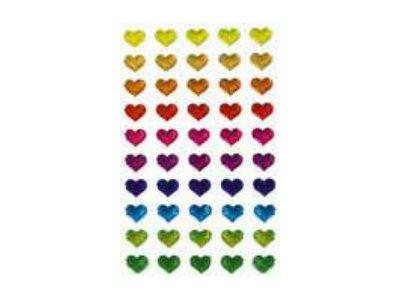 Maildor - 1 feuille gommettes cœurs