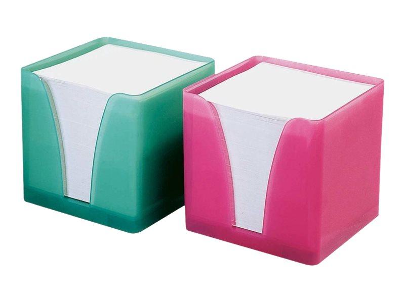 Quo Vadis - Bloc Cube avec support plexi - blanc
