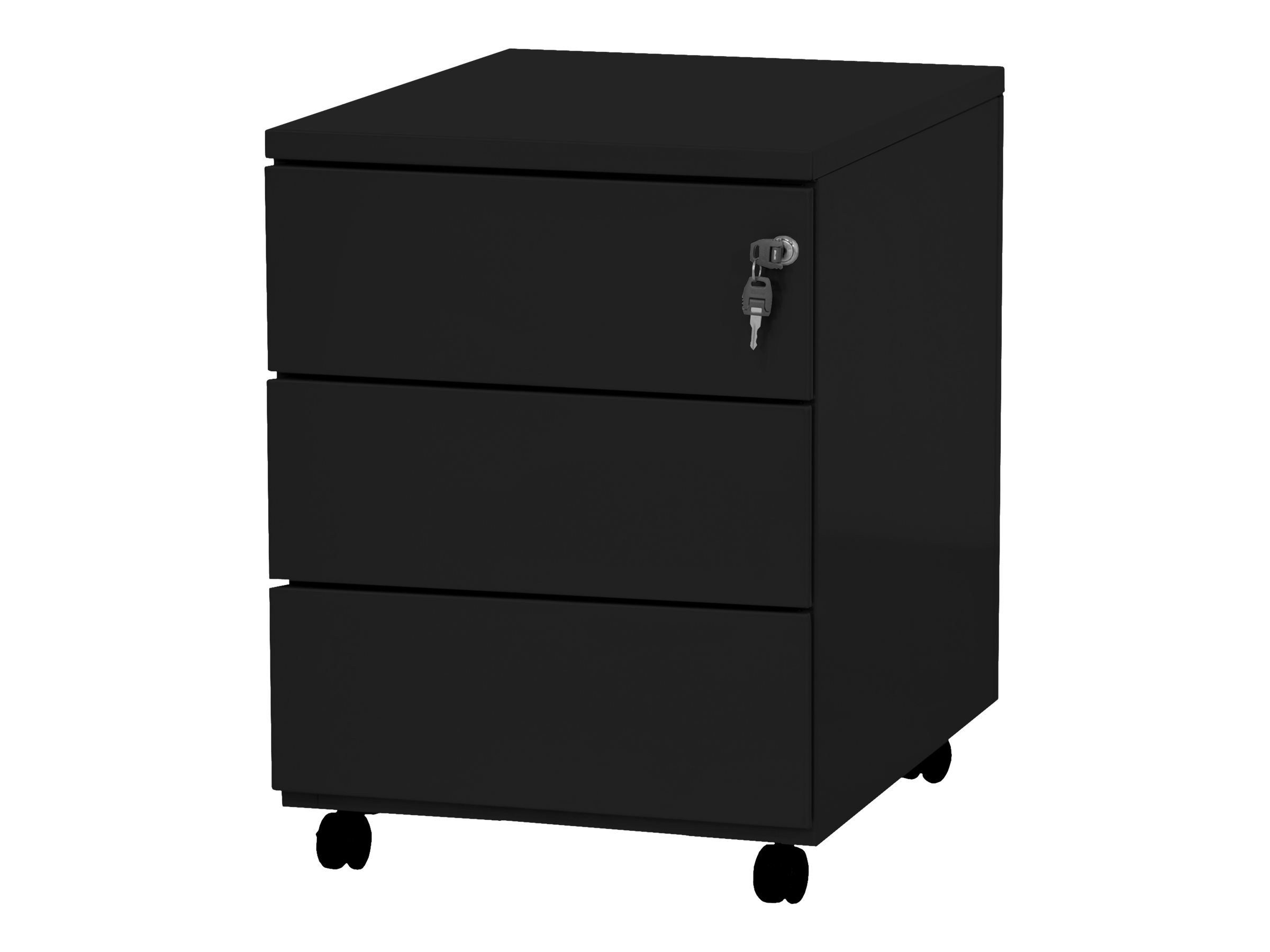 Caisson mobile - 3 tiroirs - noir - 56,7 x 54,1 x 41,8 cm
