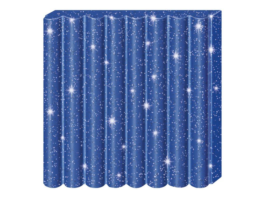 Pâte Fimo Effect - Bleu Pailleté - 57G