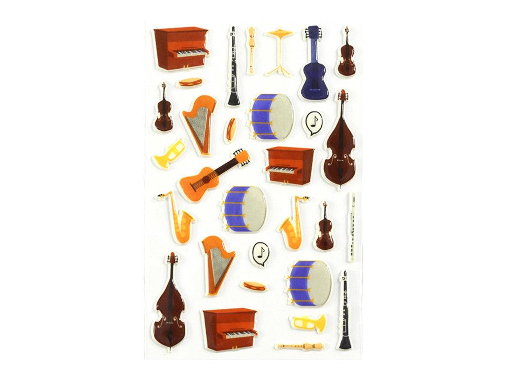Maildor - 1 feuille gommettes instruments de musique