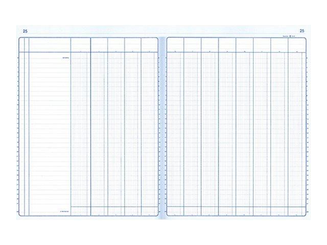 ELVE - Piqûre comptable - 13 colonnes par page - 24 x 32 cm - 80 pages