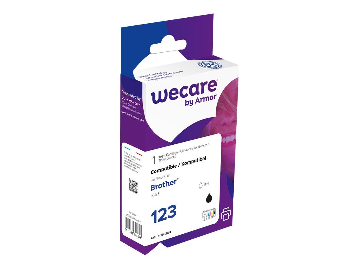 Brother LC123 - compatible Wecare K12652W4 - noir - cartouche d'encre