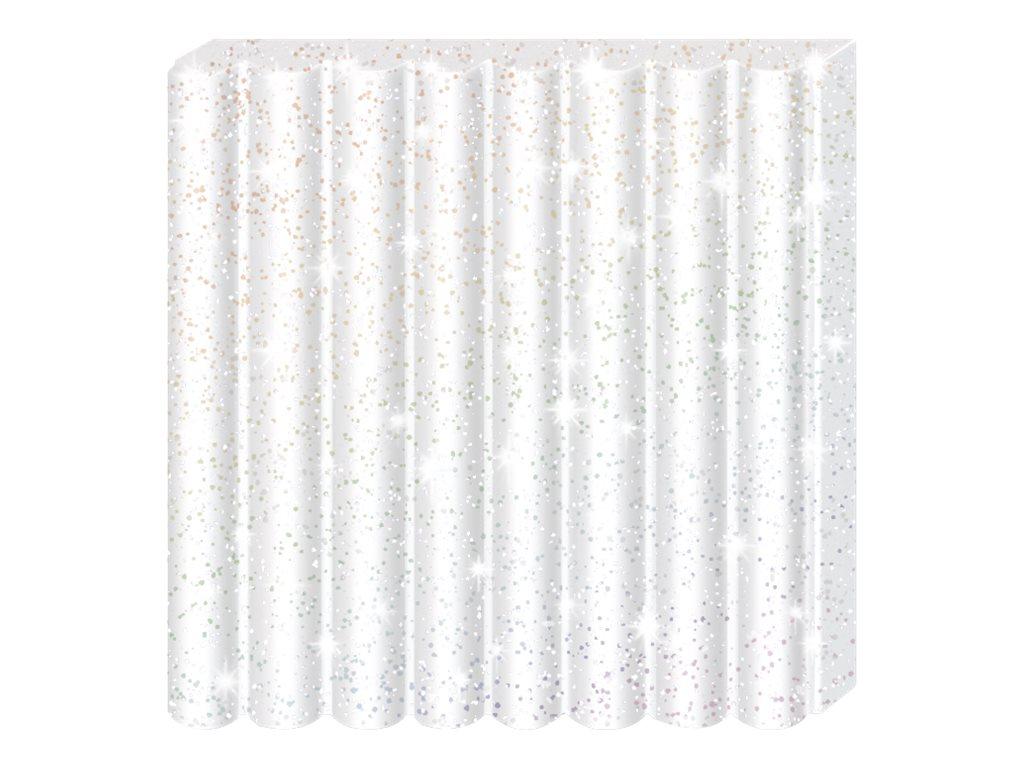 Pâte Fimo Effect - Blanc Pailleté - 57G